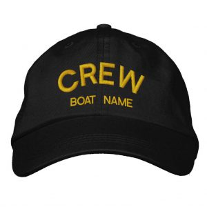 Personalised Sailors CREW & BOAT NAME Hat