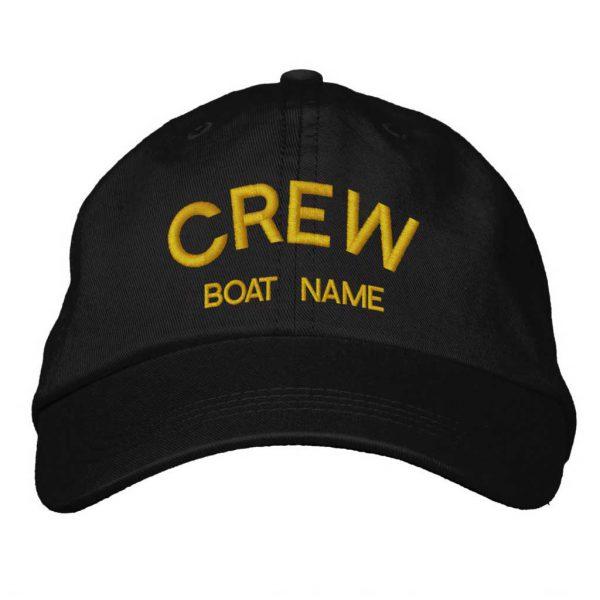 Personalised Sailors CREW & BOAT NAME Hat